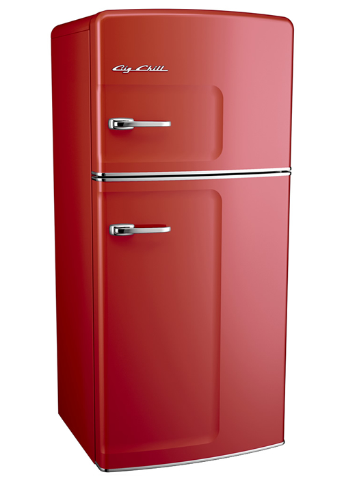 Retro Fridge-Cherry Red